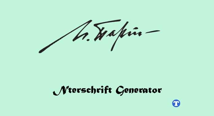 unterschrift generator online kostenlos