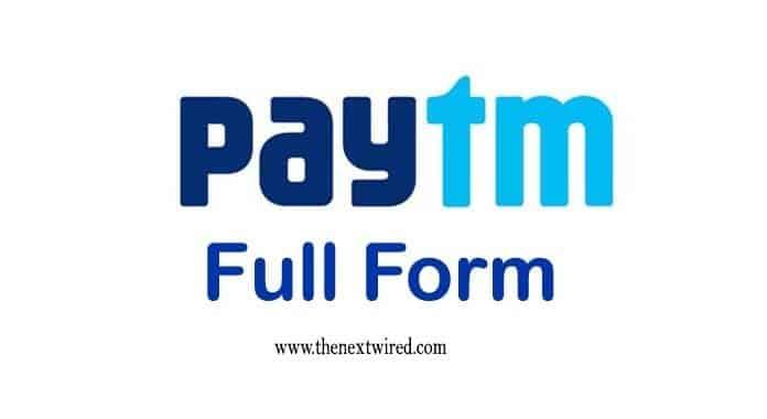 PAYTM Full Form